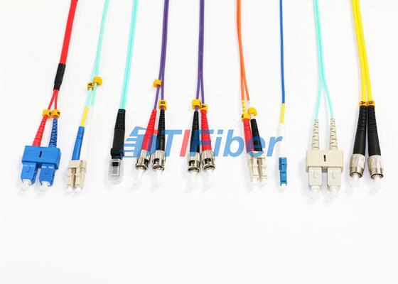 MU MTRJ het Enige Koord van het Wijzeflard/Duplex Multimode Vezel Optische Kabel