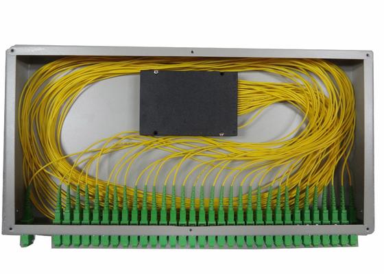 1x16 PLC Optische Vezelsplitser voor Rek Opgezette Vezel Einddoos