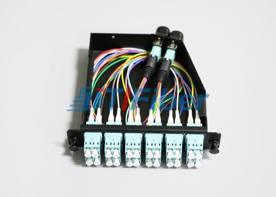 24 kern OM4 MTP/MPO-Koord van het Vezel het Optische Flard voor MPO-Cassettes