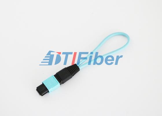 12 kern OM3 MPO/MTP-Vezel Optische Loopback met Laag Toevoegingsverlies